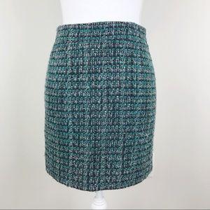 J. Crew Postage Mini Skirt in Peacock Tweed